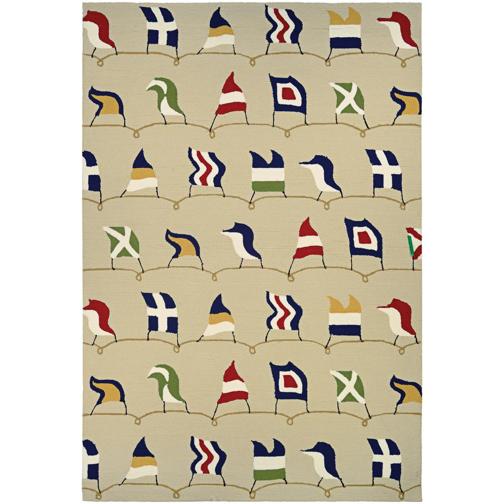6bbba501dab058 Couristan Outdoor Escape Nautical Flags Sand 8 ft. x 11 ft. Indoor Outdoor  Area Rug-68526486080110T - The Home Depot