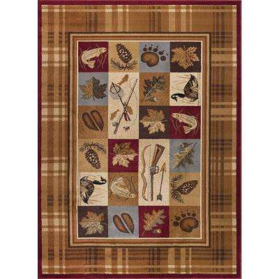 Nature Beige 7 ft. 10 in. x 10 ft. 3 in. Lodge Area Rug