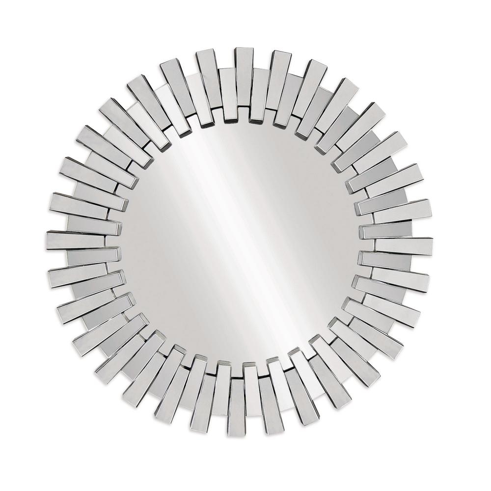 BASSETT MIRROR COMPANY Baka Decorative Wall Mirror Sunburst mirrors have been brightening interiors for centuries. With its large scale sparkling clear-mirror slats and grand shape, our Baka design is a style icon of yesterday and today. Beautiful in any room setting.