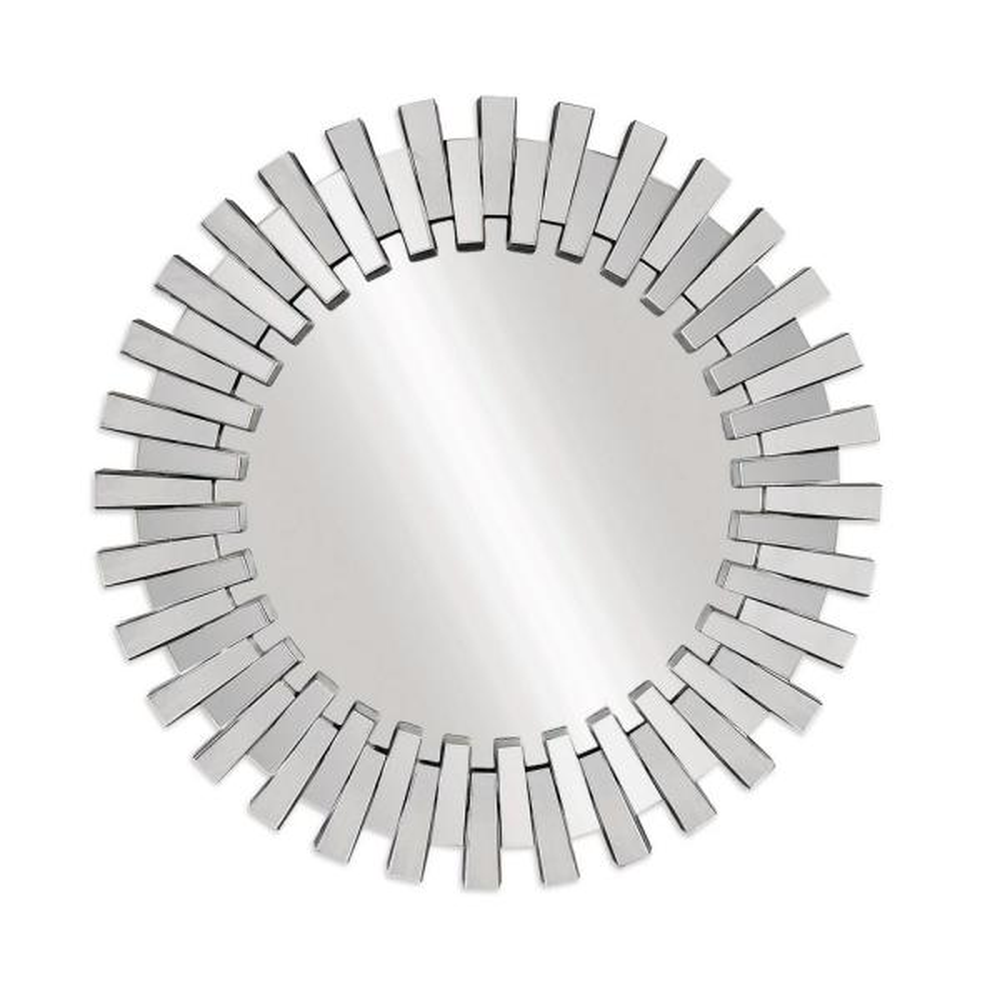 Large Irregular Clear Mirror Hooks Modern Mirror (41 in. H x 41 in. W)
