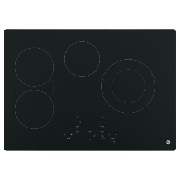 30 in. Radiant Electric Cooktop in Black with 4 Elements including Power Boil Element