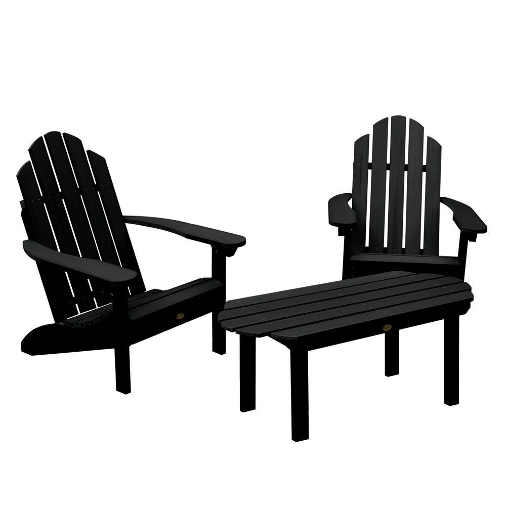 Classic Westport Black 3-Piece Recycled Plastic Outdoor Conversation Set