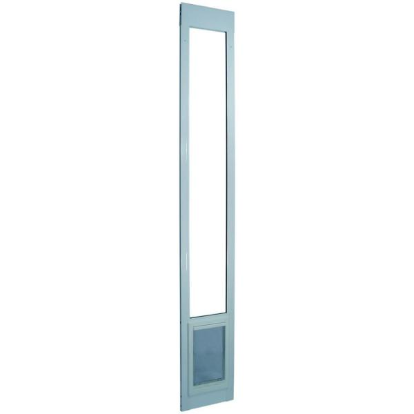 10.5 in. x 15 in. Extra Large White Pet and Dog Patio Door Insert for 77.6 in. to 80.4 in. Aluminum Sliding Glass Door