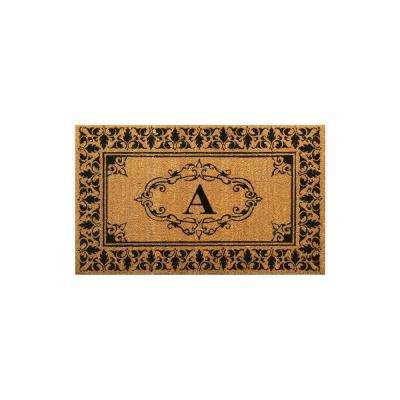 Welcome 36 in. x 72 in. Indoor/Outdoor Monogrammed Letter A Door Mat
