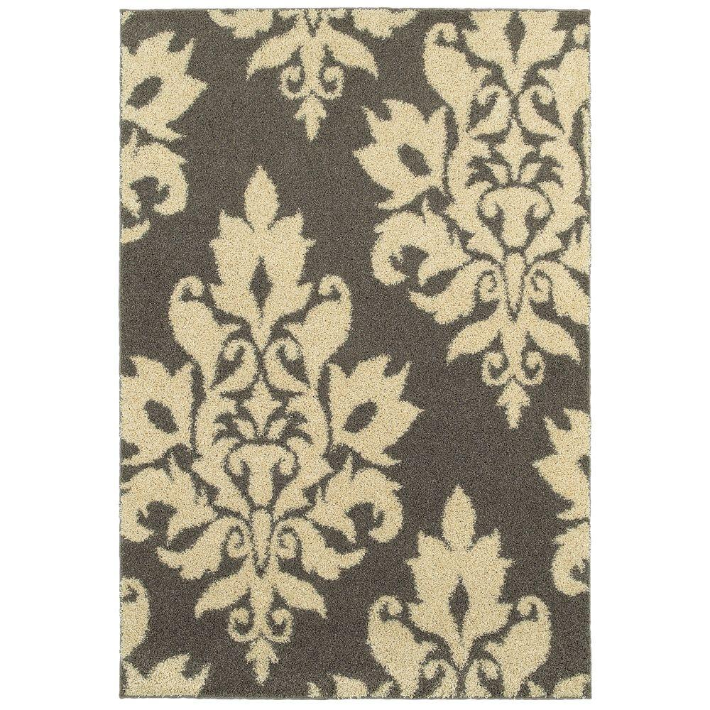 Marvelous Home Decorators Collection Meadow Damask Gray 7 Ft. 10 In. X 10 Ft. Area Rug C8024I240305HD    The Home Depot