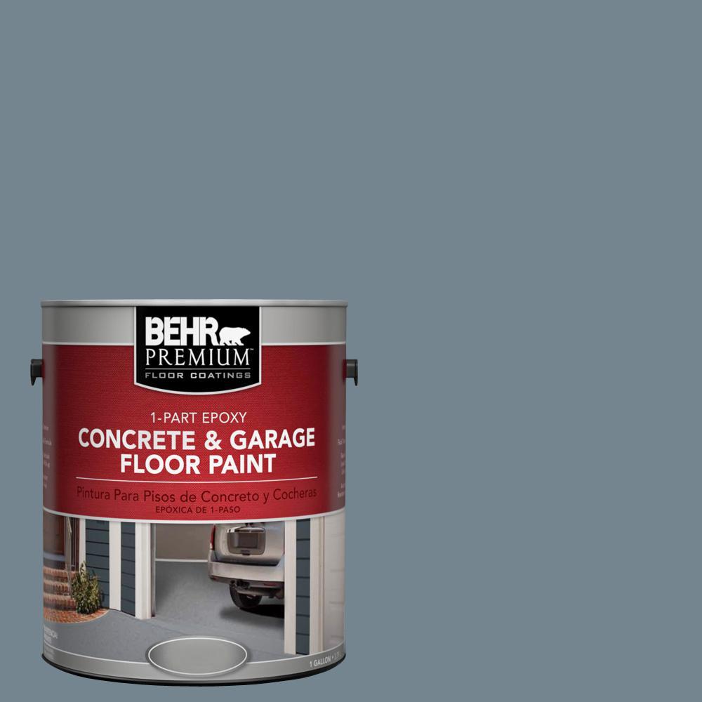 1 gal. #N480-5 Adirondack Blue 1-Part Epoxy Concrete and Garage Floor Paint