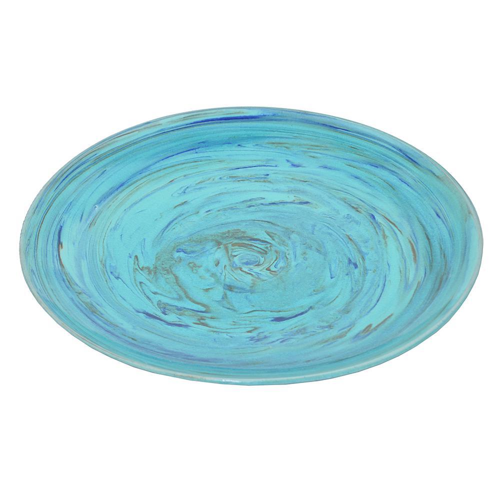 Blue Turquoise Ceramic Plate