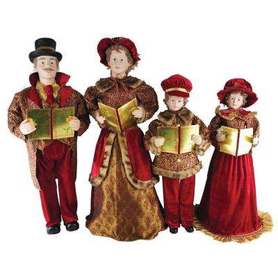 27 in. to 37 in. Victorian Carolers with Songbooks (Set of 4)