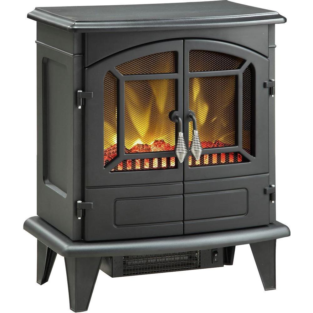 Muskoka Phoenix 400 sq. ft. Electric Stove in Black