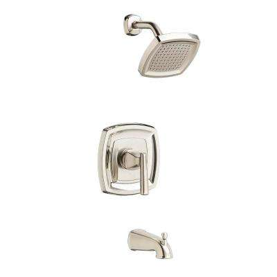 Edgemere 2.5 GPM 1-Handle Tub and Shower Faucet Trim Kit in Brushed Nickel (Valve Not Included)