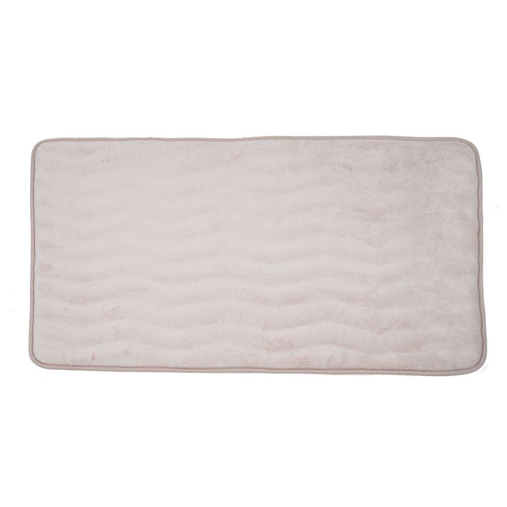 Ivory 24 in. x 60 in. Memory Foam Extra Long Bath Mat