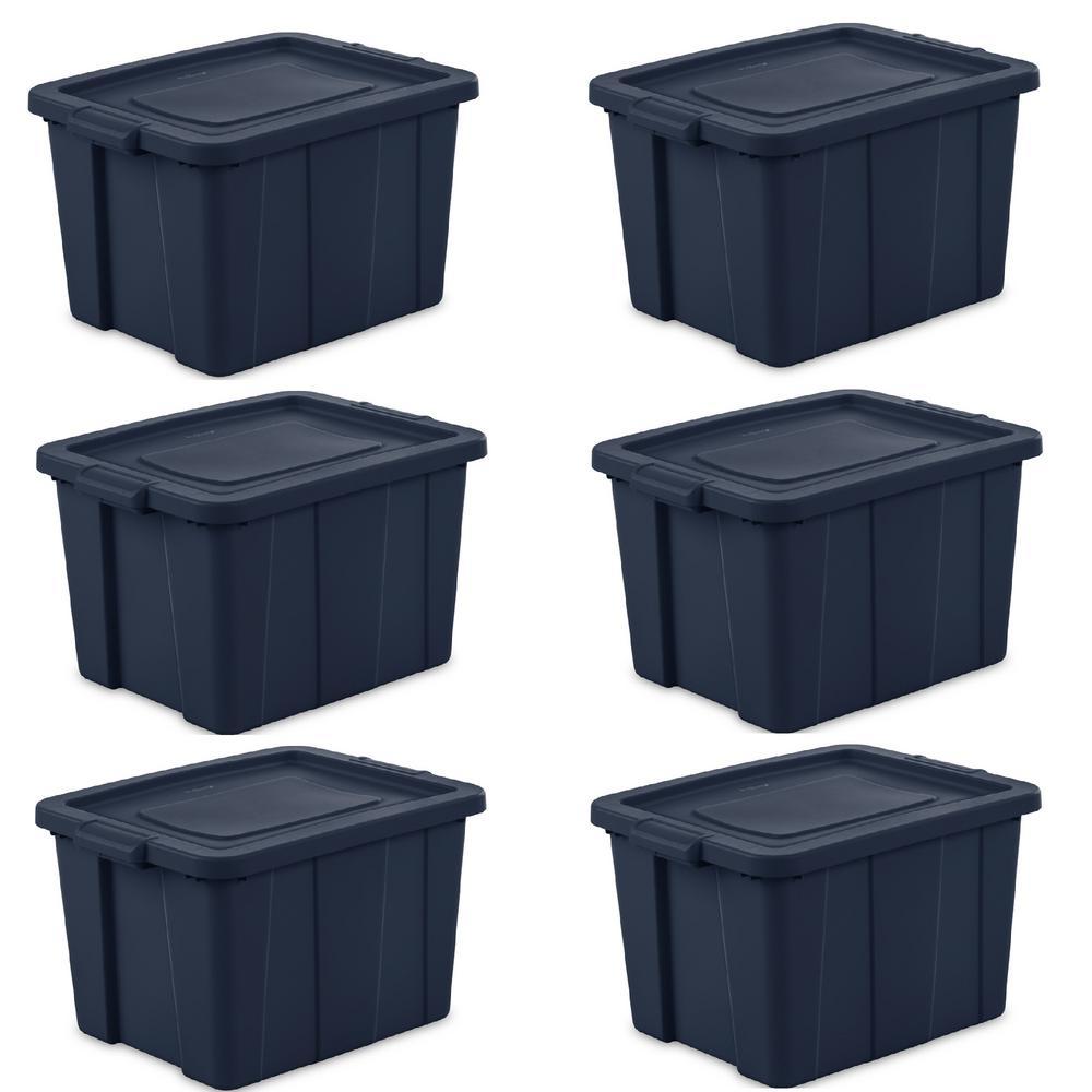 Sterilite Tuff 18 Gallon Plastic Storage Tote Container ...