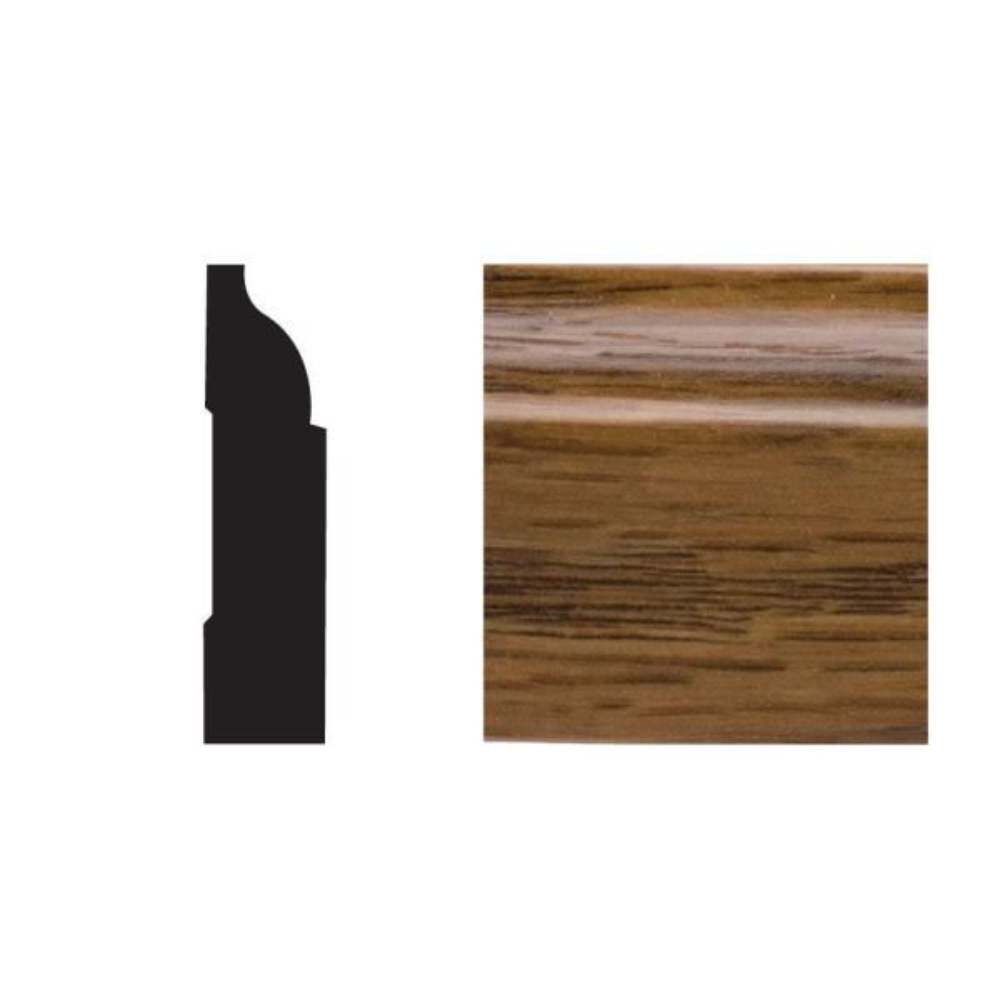 5947 3/8 in. x 1-1/4 in. x 7 ft. PVC Composite Colonial Cap Highlands Oak Moulding