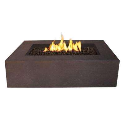 Baltic 51 in. Rectangle Propane Gas Outdoor Fire Pit in Kodiak Brown