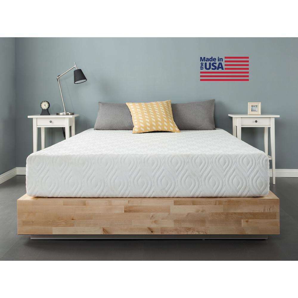 zinus inc liberty 10 in twin gel memory foam mattress hd usa gmf 10t the home depot. Black Bedroom Furniture Sets. Home Design Ideas