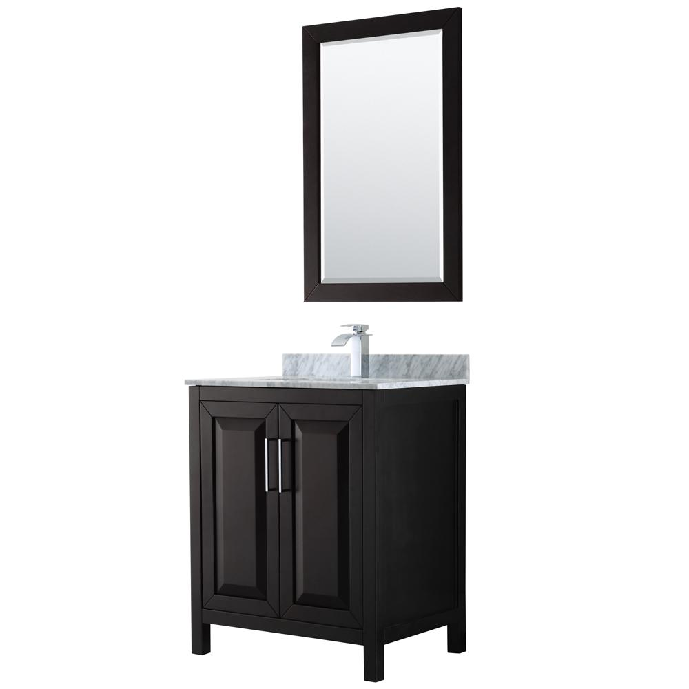 Daria 30 in. Single Bathroom Vanity in Dark Espresso with Marble