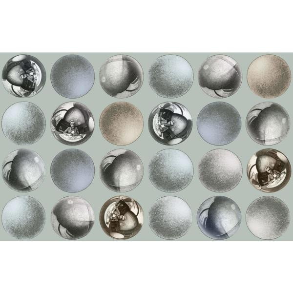 Mattel Grey Sphere Paper Strippable Roll (Covers 74.3 sq. ft.)
