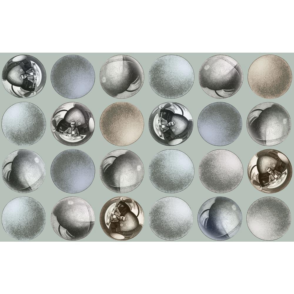 Mattel Grey Sphere Wallpaper Sample