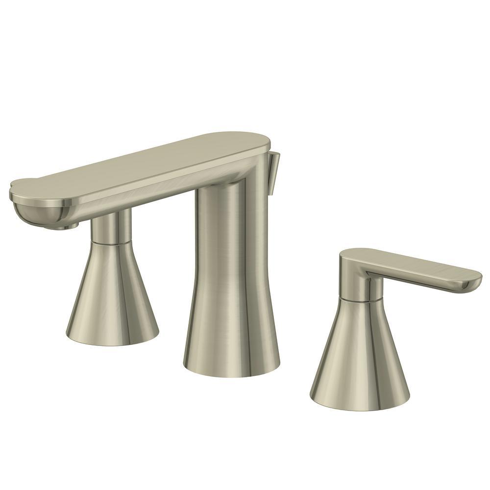 Glacier Bay Chianti 8 in. Widespread 2-Handle Bathroom Faucet in Brushed Nickel