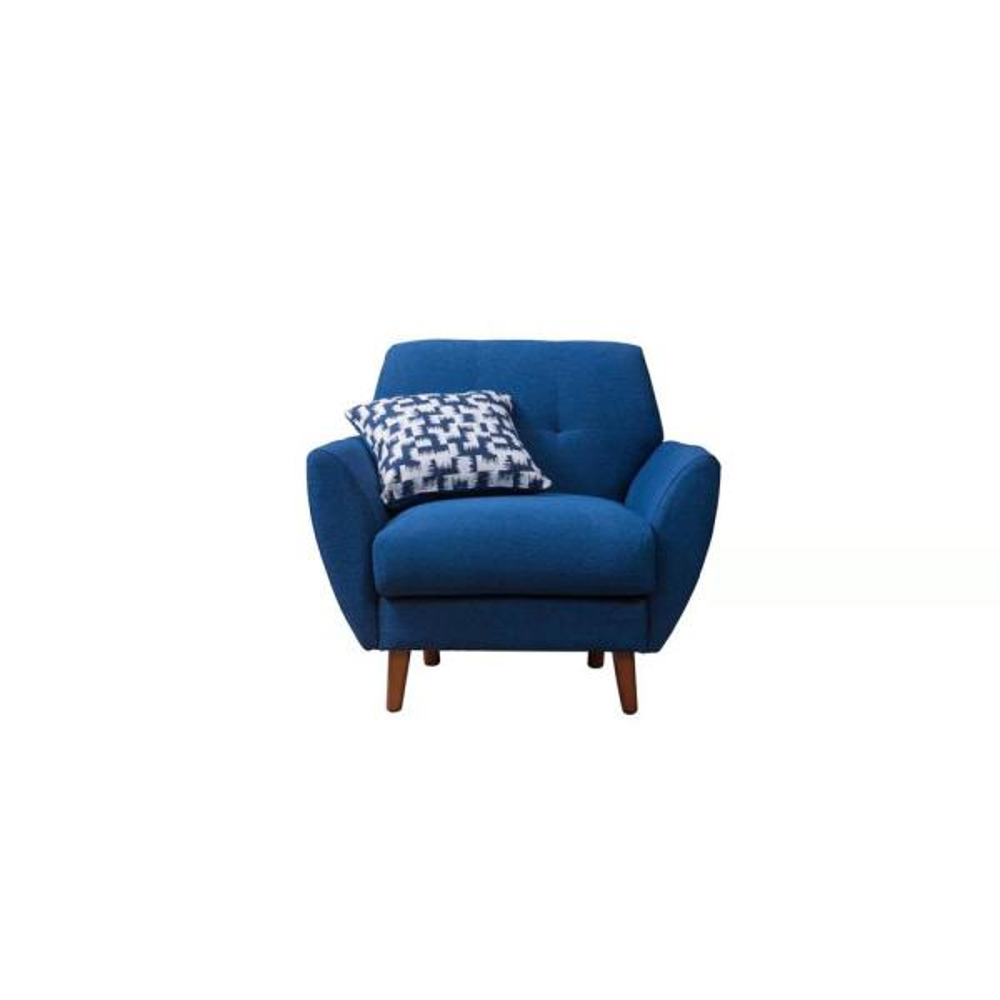 Crawford & Burke Toronto Blue Linen Arm Chair HCB168003CR-HD