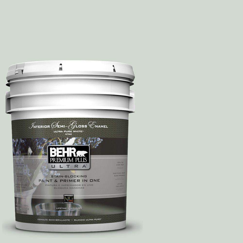 Home Decorators Collection 5-gal. #HDC-CT-23 Wind Fresh White Semi-Gloss Enamel