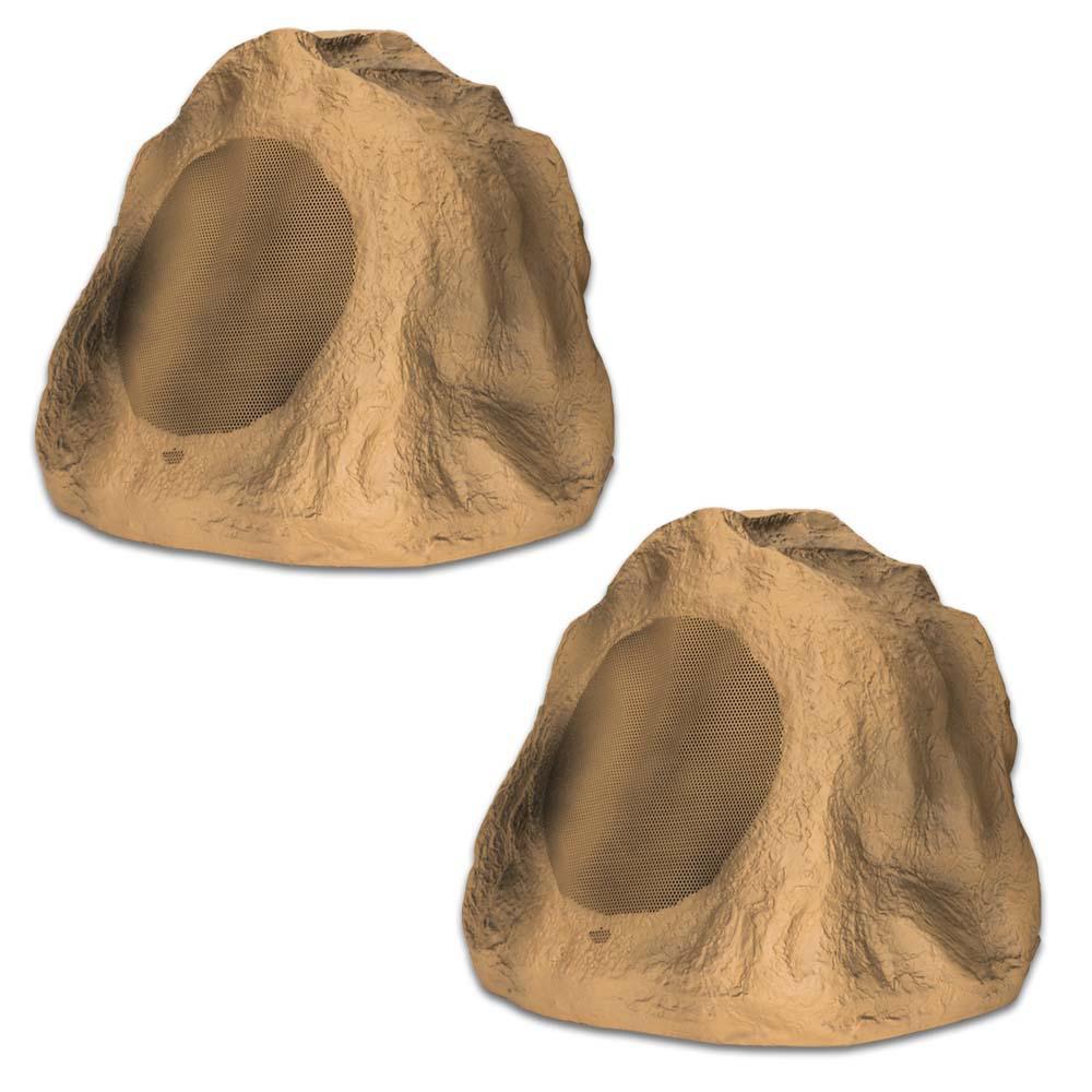 Sandstone 6.5 in. Rock Speaker Pair Weatherproof Speakers