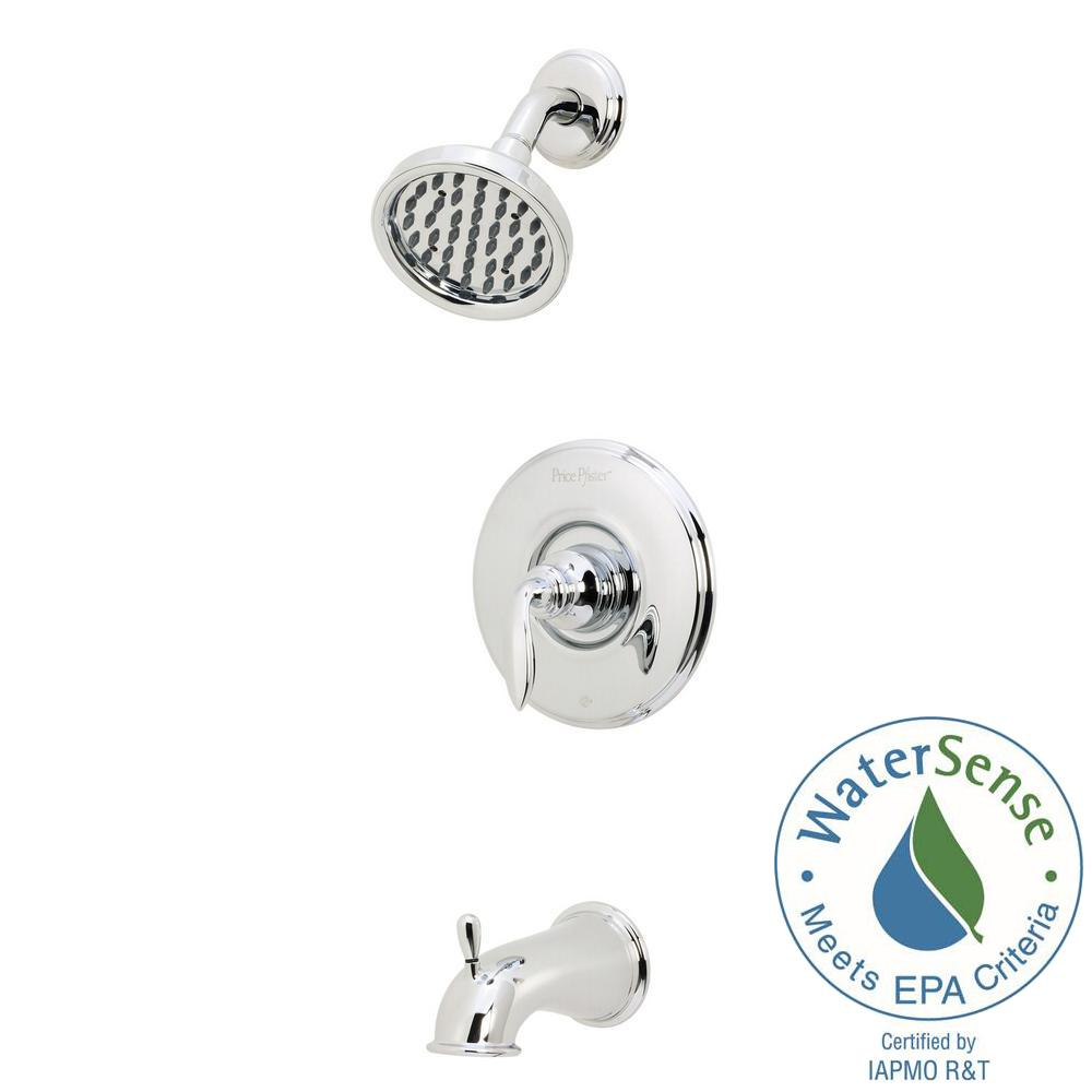 Avalon Single-Handle 1-Spray Tub and Shower Faucet in Polished Chrome (Valve