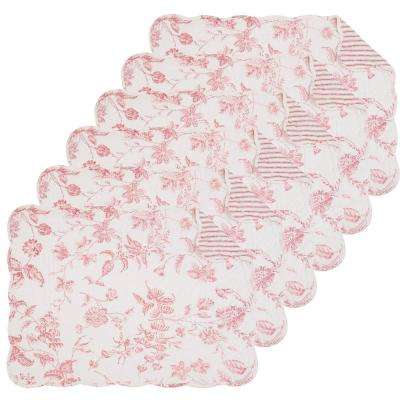 Pink Lydia Quilted Placemat (Set of 6)