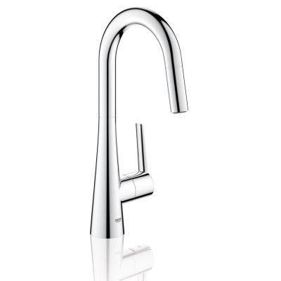Ladylux L2 Single-Handle Pull-Out Sprayer Kitchen Faucet for Bar Sinks in StarLight Chrome