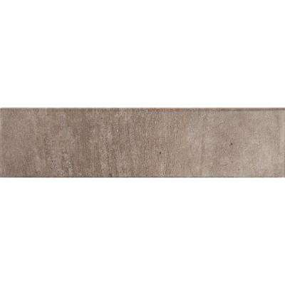 Metropolis Taupe 3 in. x 12 in. Glazed Porcelain Bullnose Wall Tile (10 ln. ft. / case)