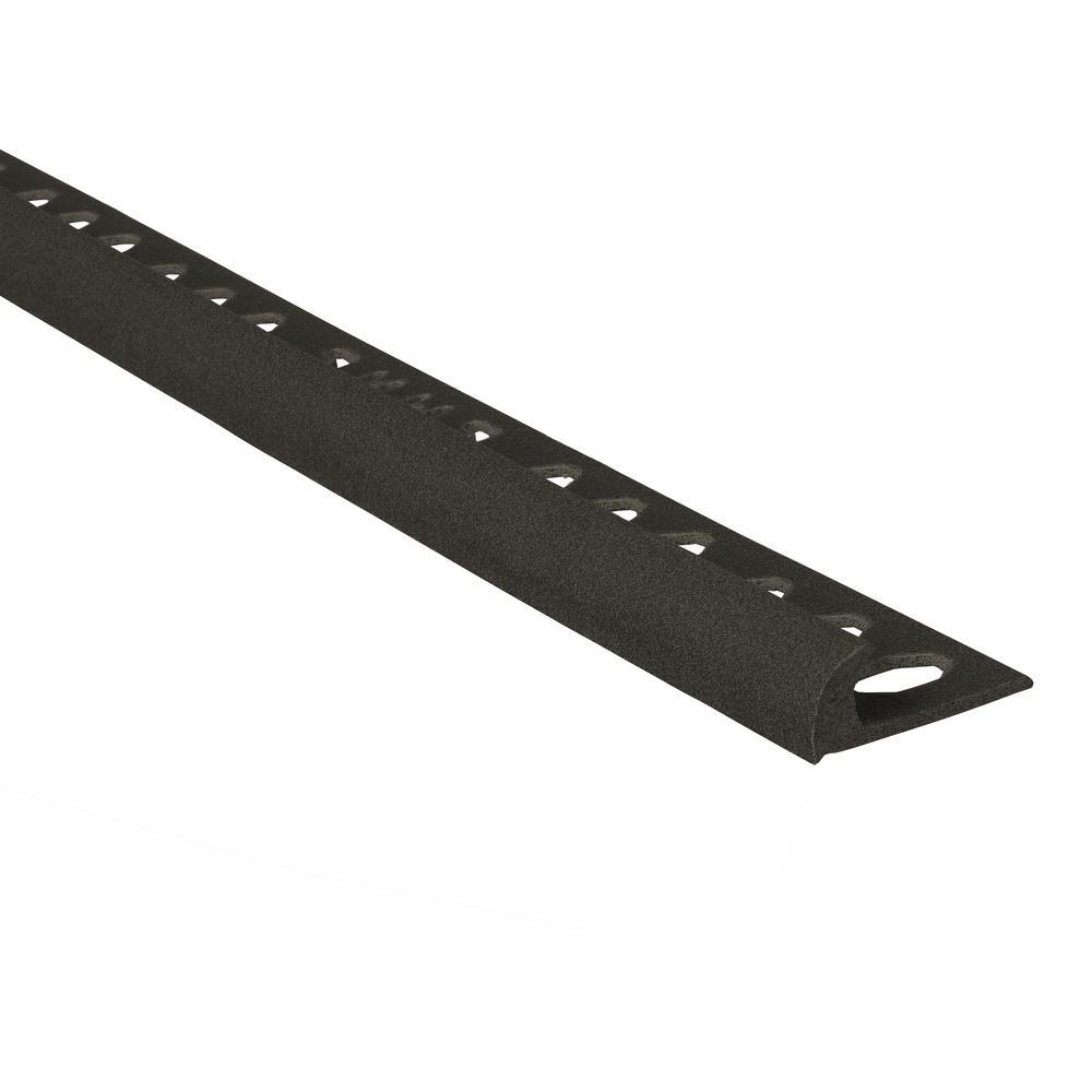 Novocanto Maxi Black 1/2 in. x 98-1/2 in. Composite Tile Edging