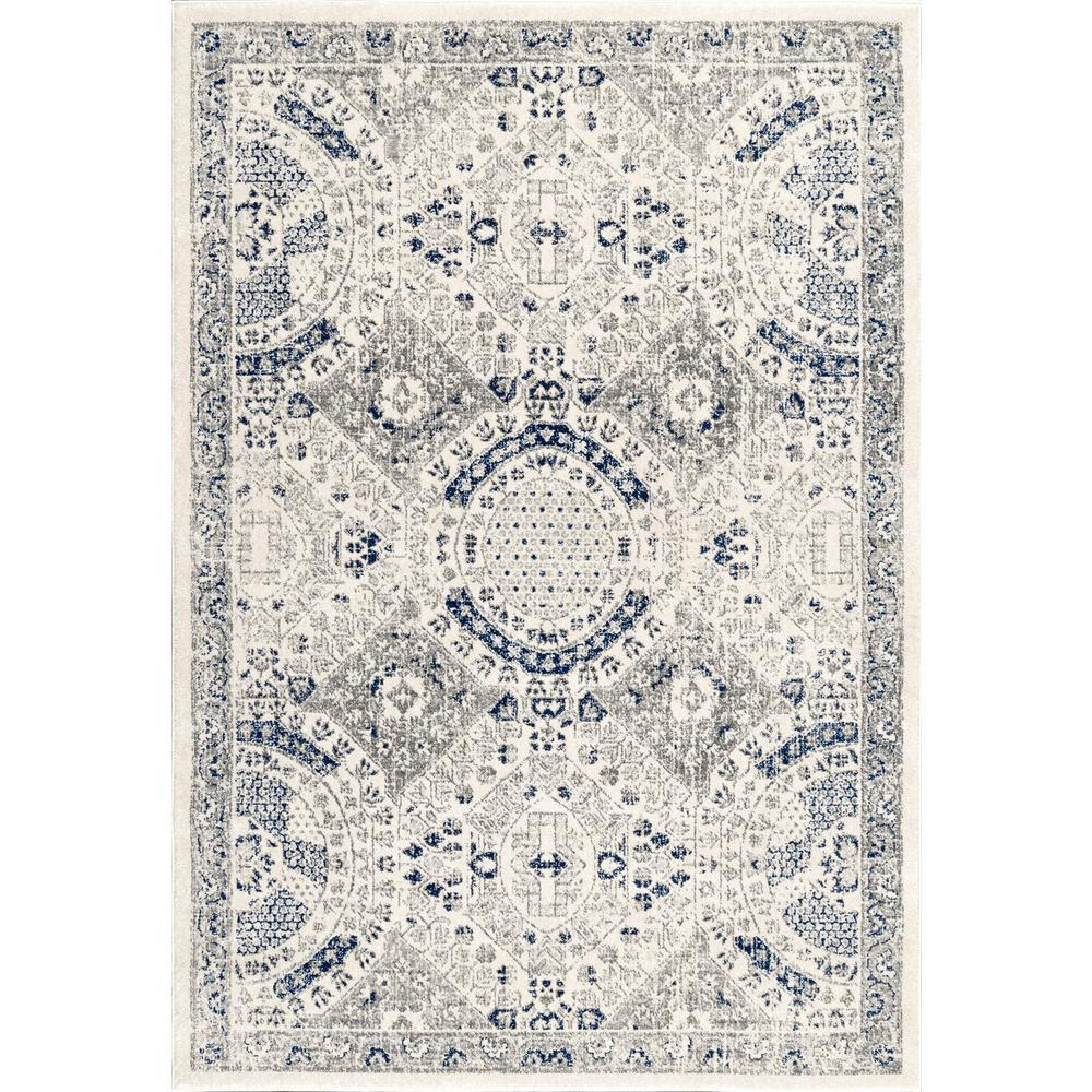 Minta Modern Persian Blue 2 ft. x 3 ft. Area Rug