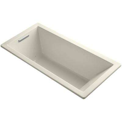 Underscore 5.5 ft. Air Bath Tub in Almond