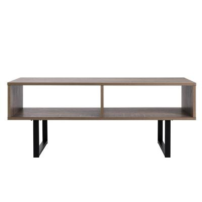Tribeca Weathered Wood Media Console Table