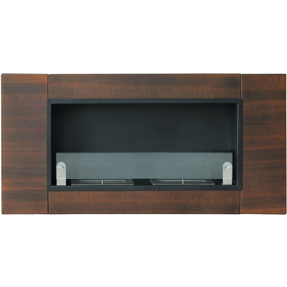 Moda Flame Wraith 64 In Wall Mounted Ethanol Fireplace In Stainless Steel Gf101694 The Home Depot