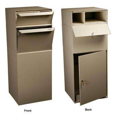 Locking Mailboxes Curbside Mail and Package Delivery Vault in Sand