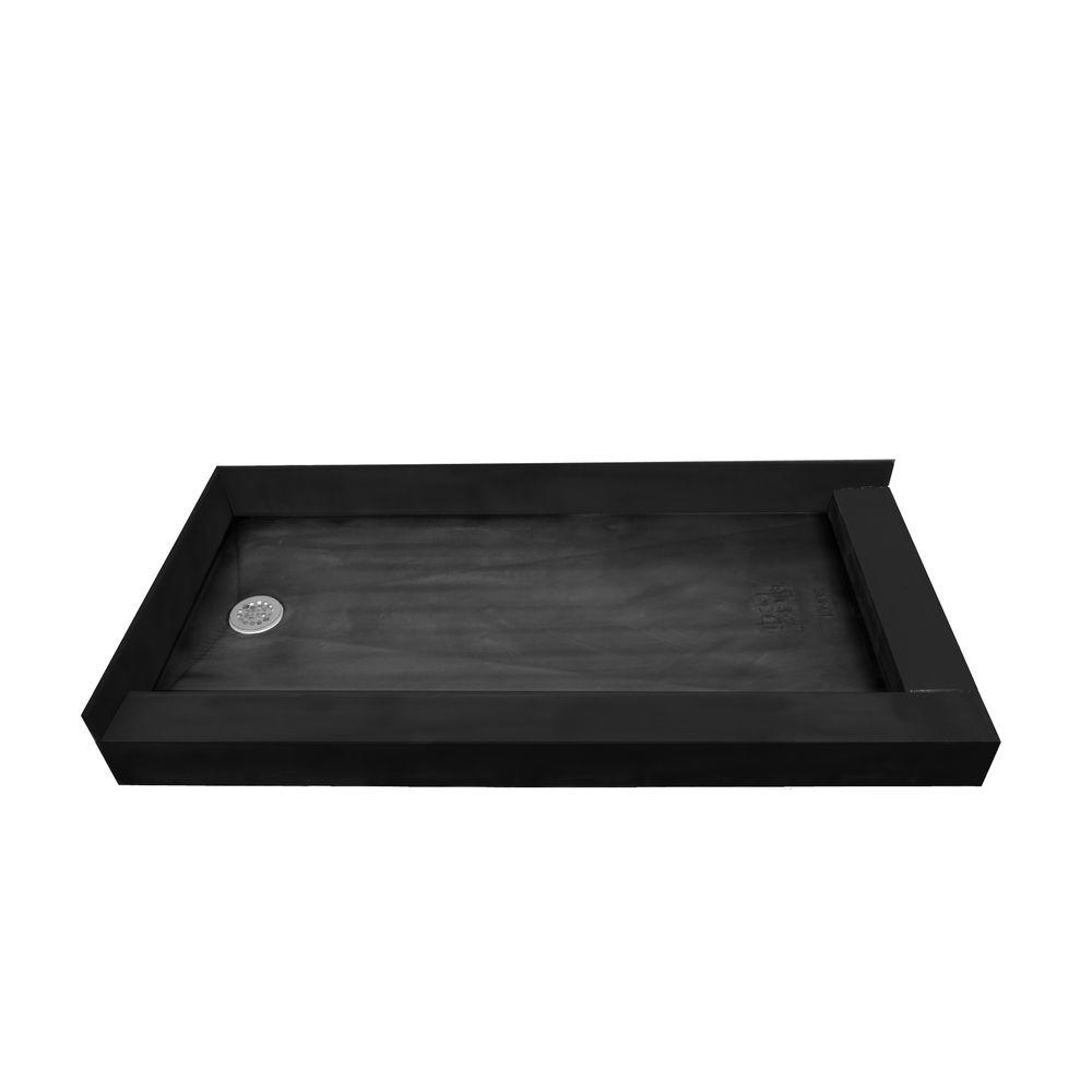 34 in. x 60 in. Double Threshold Shower Base with Left