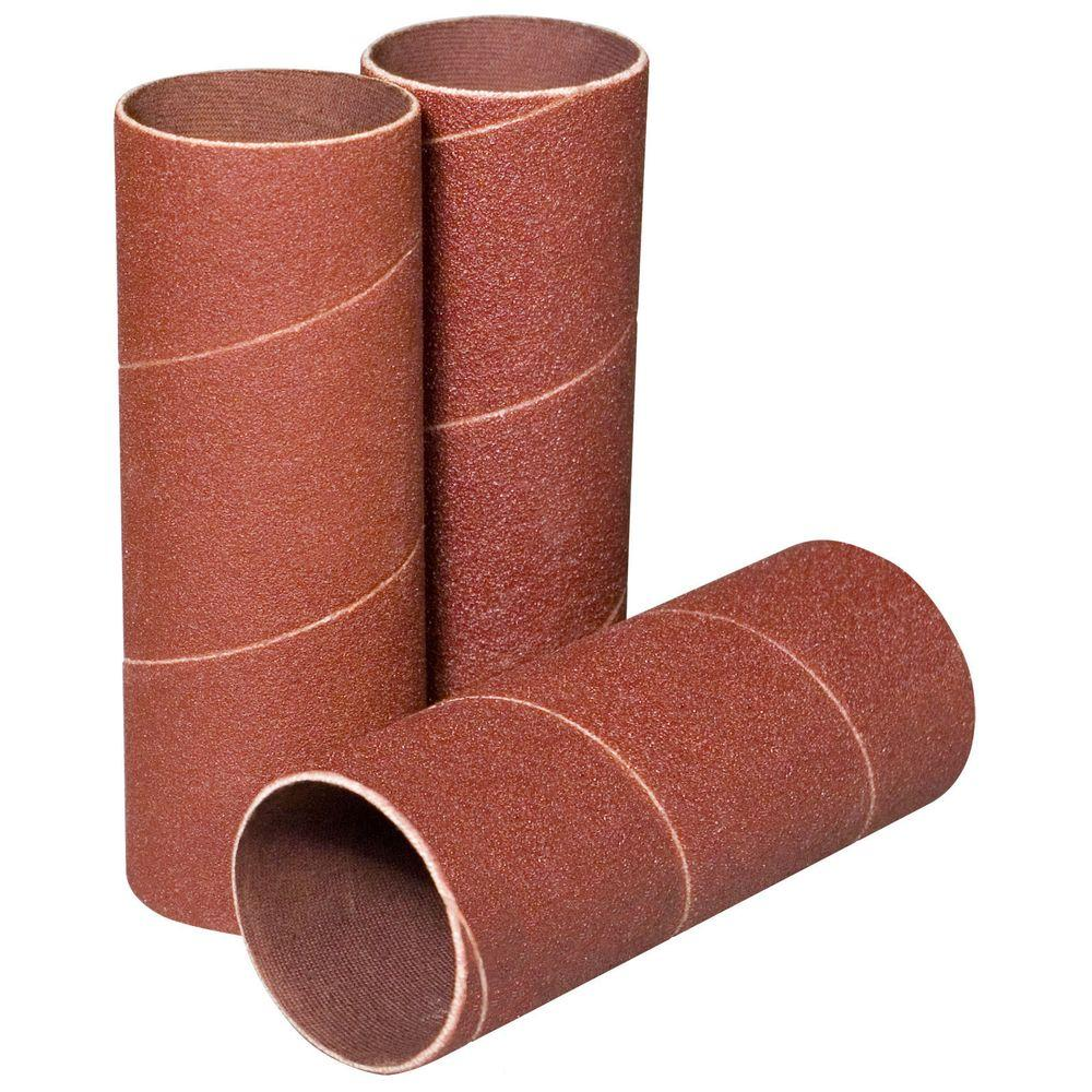 4-1/2 in. x 1-1/2 in. 120-Grit Sanding Sleeves (3-Pack)