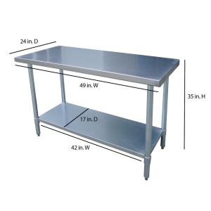 Sportsman Stainless Steel Kitchen Utility TableSSWTABLE The Home - 8 ft stainless steel work table