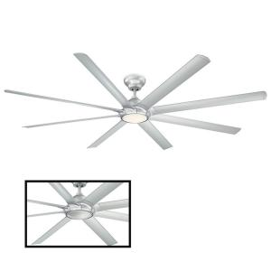 Hydra 96 in. LED Indoor/Outdoor Titanium Silver 8-Blade Smart Ceiling Fan with 3000K Light Kit and Wall Control