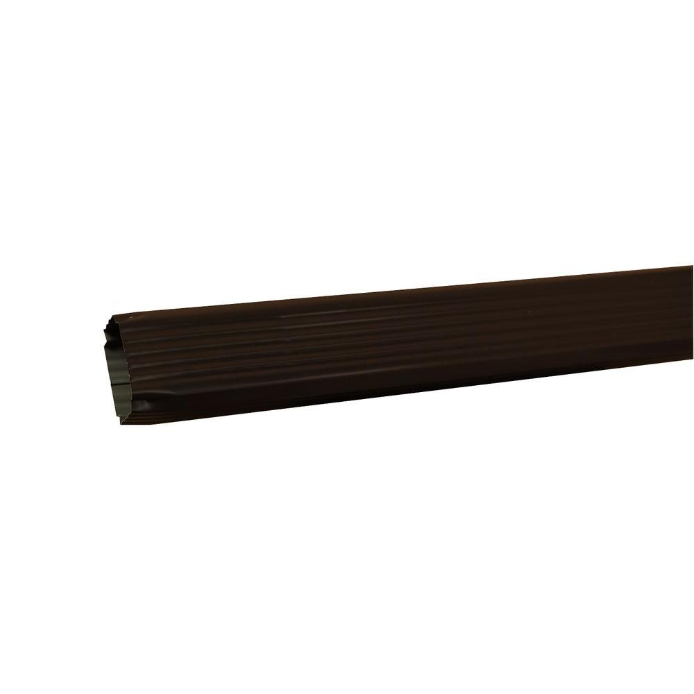 Amerimax Home Products 2 in. x 3 in. x 120 in. Musket Brown Aluminum Downspout