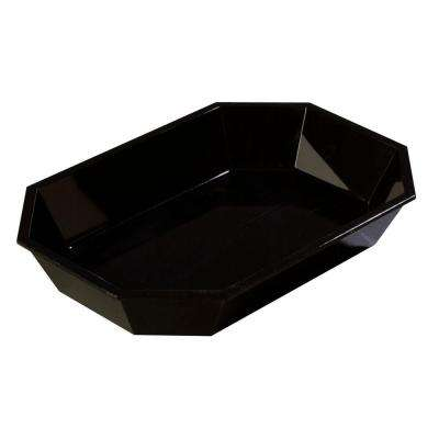 2.5# Octagonal Low Profile Deli Serving Crock in Black (Case of 6)