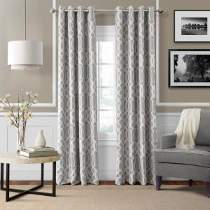 Click here to buy  Blackout Harper Gray Blackout Window Curtain Panel - 52 inch W x 95 inch L.