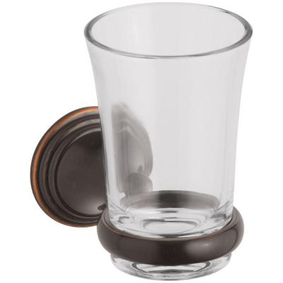 Devonshire 5.125 in. Tumbler and Holder in Oil-Rubbed Bronze