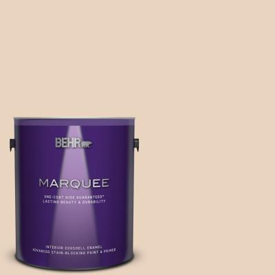 Behr Ultra 1 Gal N280 2 Writers Parchment Eggshell Enamel Interior Paint And Primer In One 275001 The Home Depot
