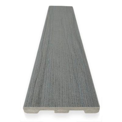 EDGE Prime Collection 0.94 in. x 5.36 in. x 12 ft. Sea Salt Gray Grooved Scalloped Composite Decking Board