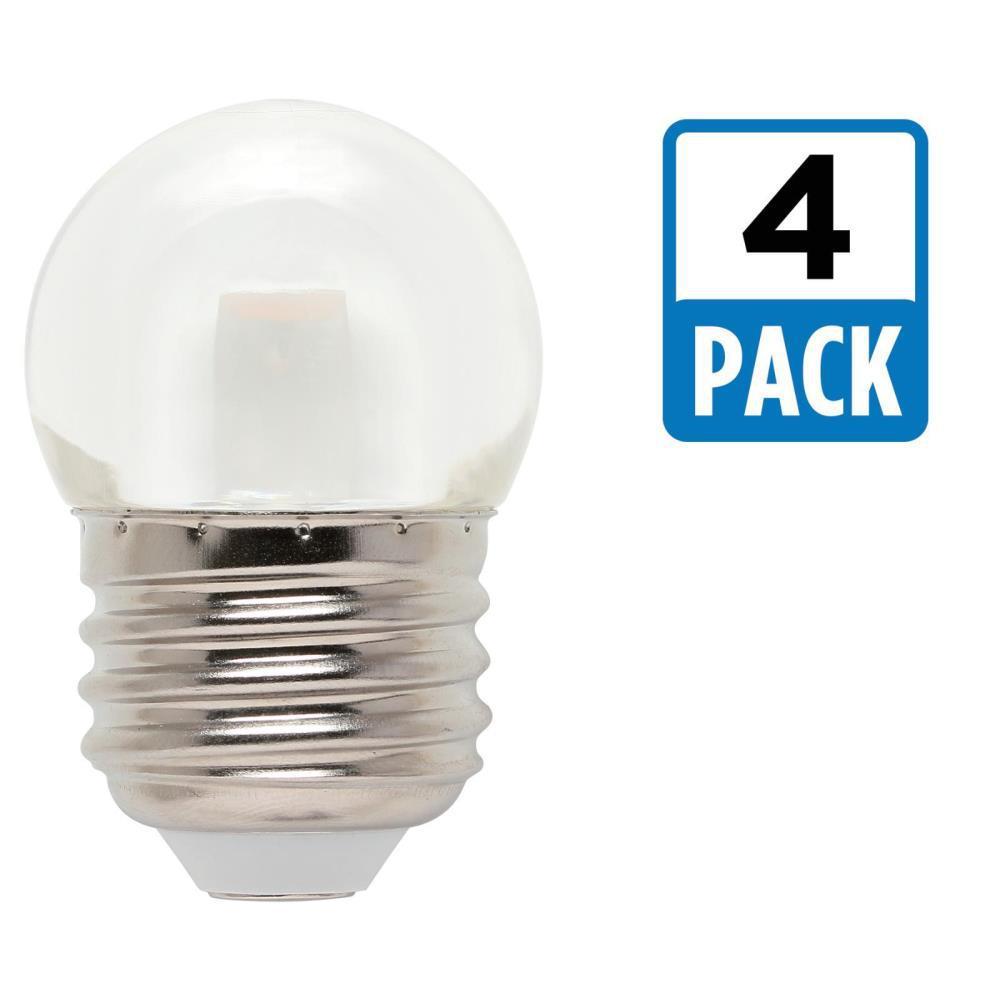 7-1/2W Equivalent Clear S11 LED Light Bulb (4-Pack)