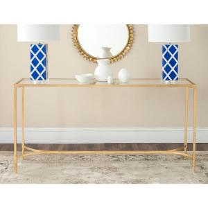Antwan Gold Tempered Glass Top Console Table