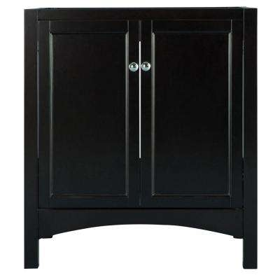 Haven 30 in. W x 21.625 in. D x 34 in. H Vanity Cabinet Only in Espresso