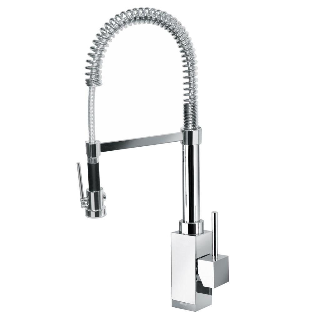Latoscana Dax Single Handle Pull Down Sprayer Kitchen Faucet With High Arc Spring Spout In Chrome